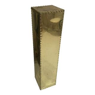Sarreid Style Studded Brass Pedestal