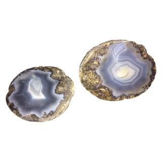 Purple Geode Bookends
