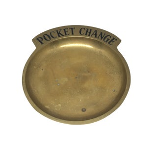 Vintage Pocket Change Brass Trinket Tray