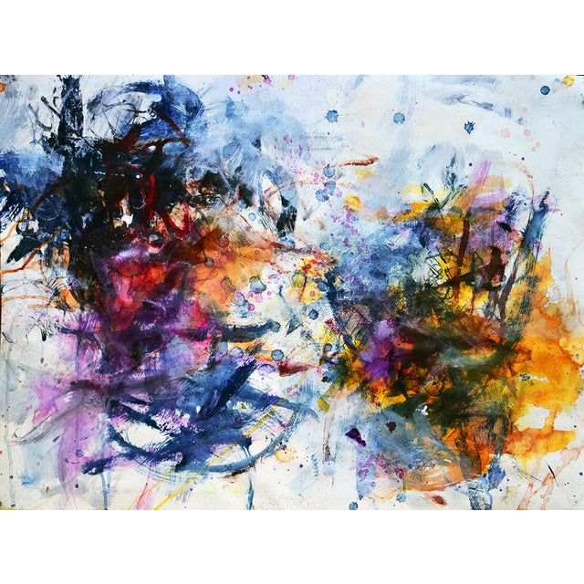 Abstract Mixed Media Painting - Untitled 7 - Image 1 of 2