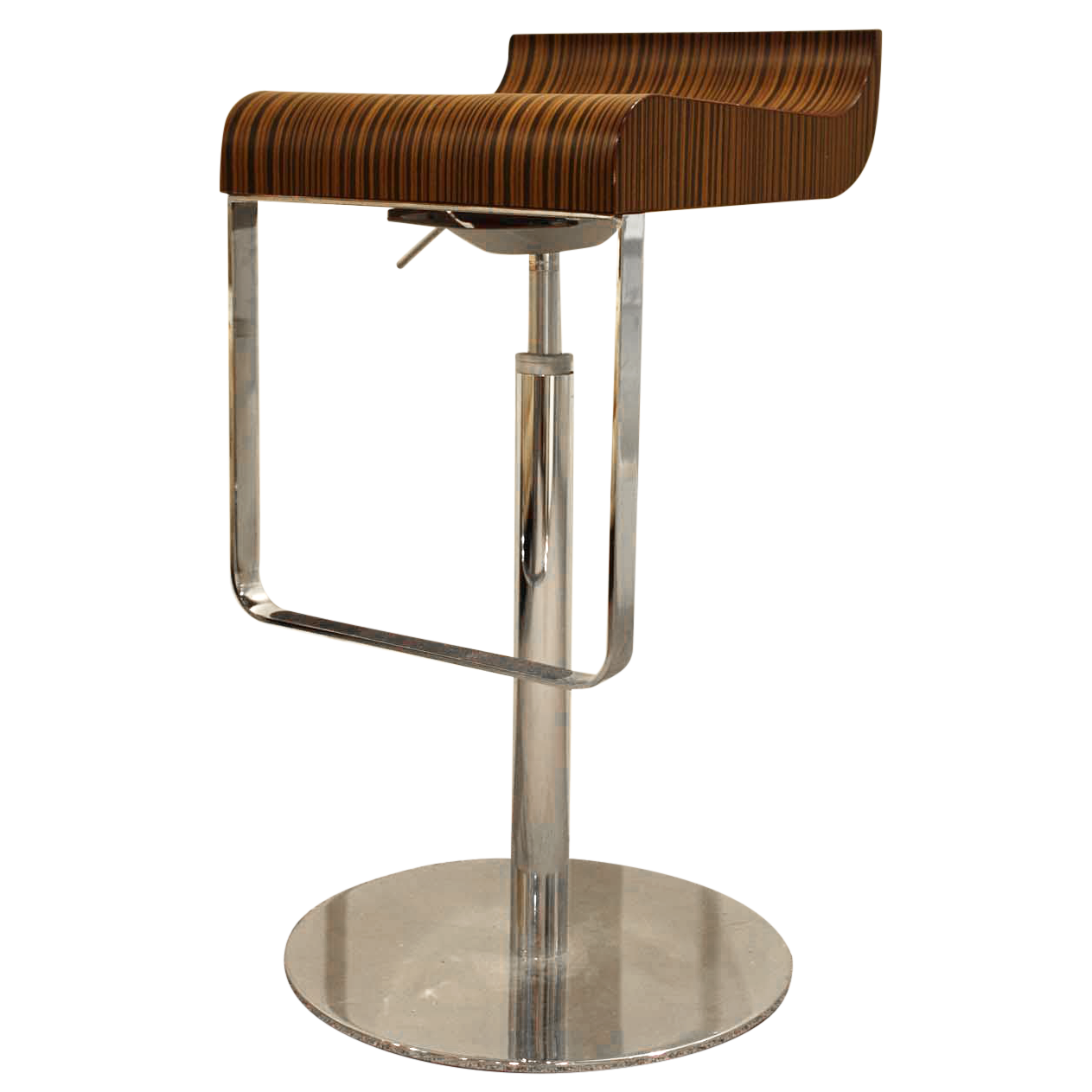 Calligaris Wood Amp Chrome Bar Stools A Pair Chairish