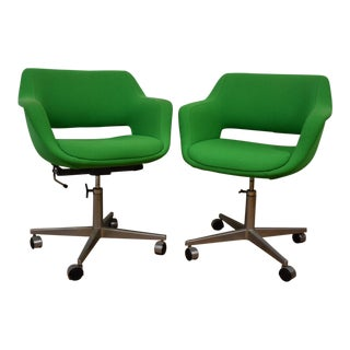 ICF Green Office Chairs - A Pair
