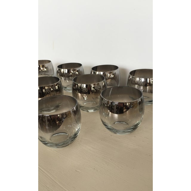 Image of Mid Century Silver Ombre Roly Poly Glasses - 13