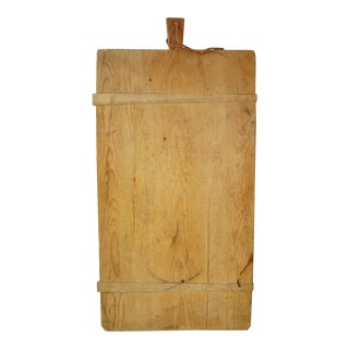 Antique French Boulangerie Bread Cutting Board
