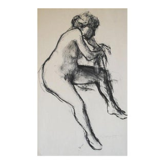 1971 Nude Charcoal Drawing