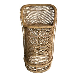 Counter Height Bohemian Rattan Counter Stool