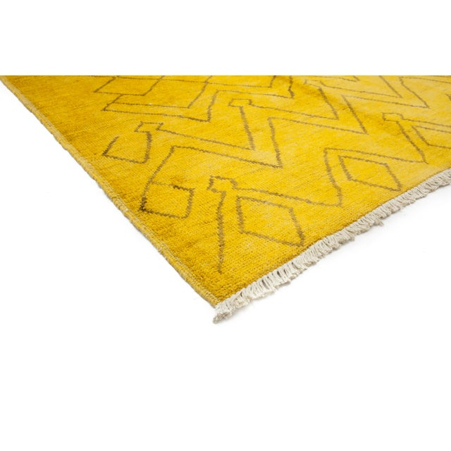 """Image of Moroccan Hand Knotted Area Rug - 5'2"""" X 7'10"""""""