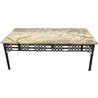 Wrought Iron & Granite Coffee Table