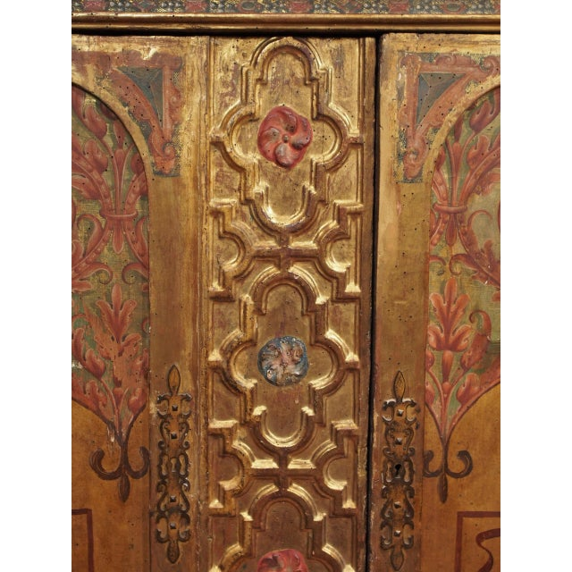 Italian Polychrome Two Door Cabinet - Image 7 of 11