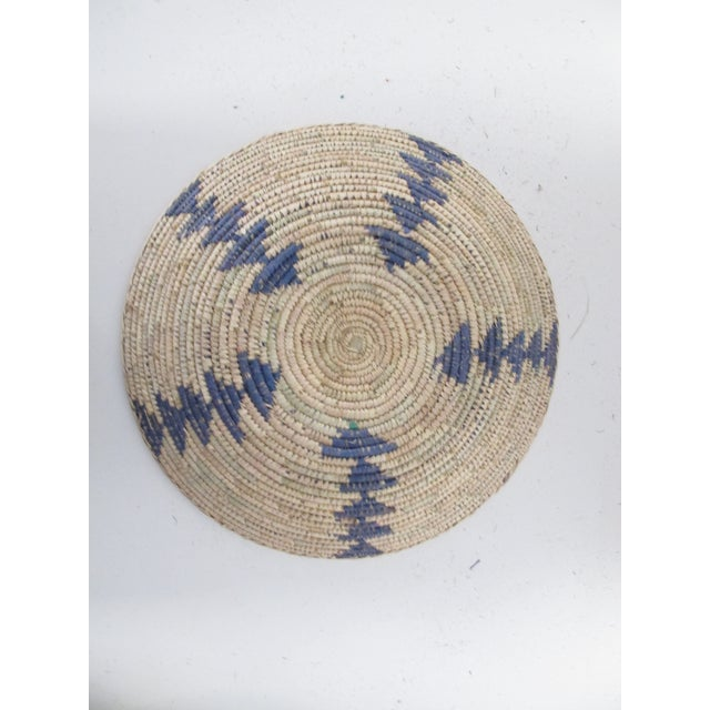 Native American Style Blue Arrow Basket - Image 3 of 4