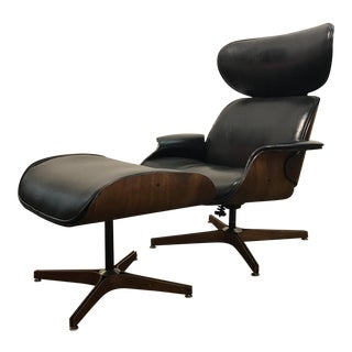George Mulhauser Lounge Chair & Ottoman