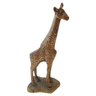 Standing Brass Giraffe Figurine