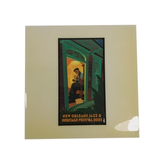 2002 New Orleans Jazz Festival Poster Art Tile