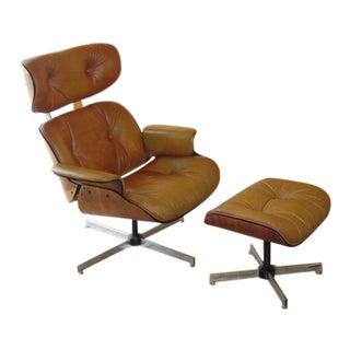 Vintage Eames Plycraft Mid Century Modern Chair & Ottoman