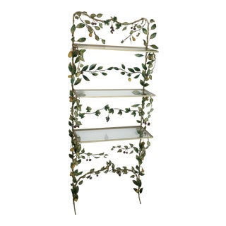 Vintage Italian Iron Tole 3 Tier Etagere Display