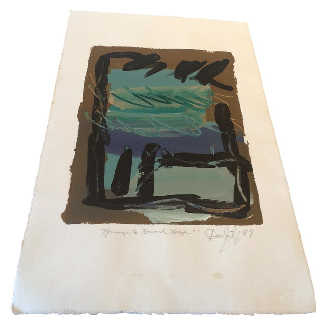 Homage to Howard Hodgkin #1 Painting - Image 1 of 6