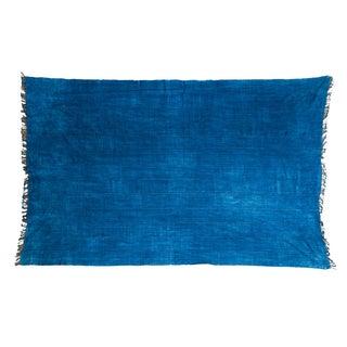 "Vintage Indigo African Batik Throw - 4' x 6'3"""