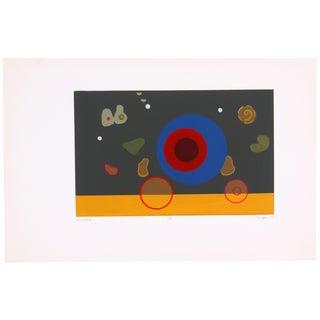 Circular Biomorphism Print by T. Confer, 1975
