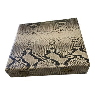 Vintage Faux Snakeskin Covered Box