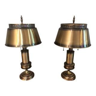 Vintage Mid-Century Bouillotte Style Lamps - Pair