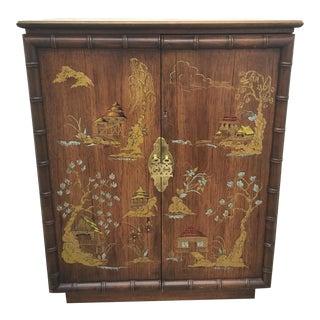 Lane Faux Bamboo Bar or Liquor Cabinet