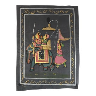 Hand Painted Indian Elephant Textile