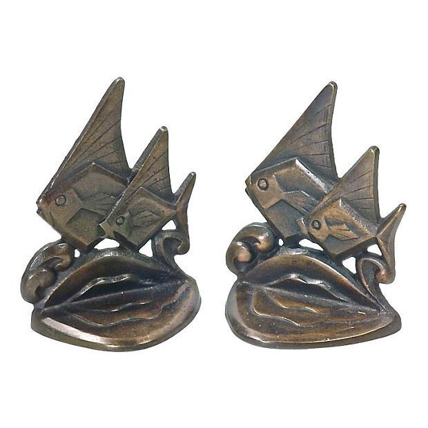 Image of Art Deco Style Fish Bookends