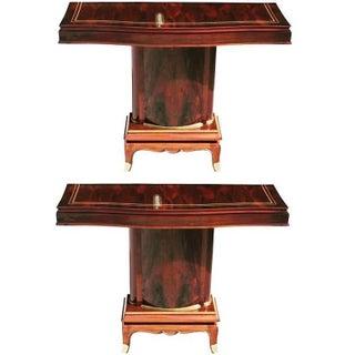 Jules Leleu French Art Deco Palisander Console Tables - A Pair