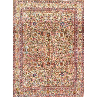 Antique Persian Lavar Kerman Rug - 8′10″ × 11′6″