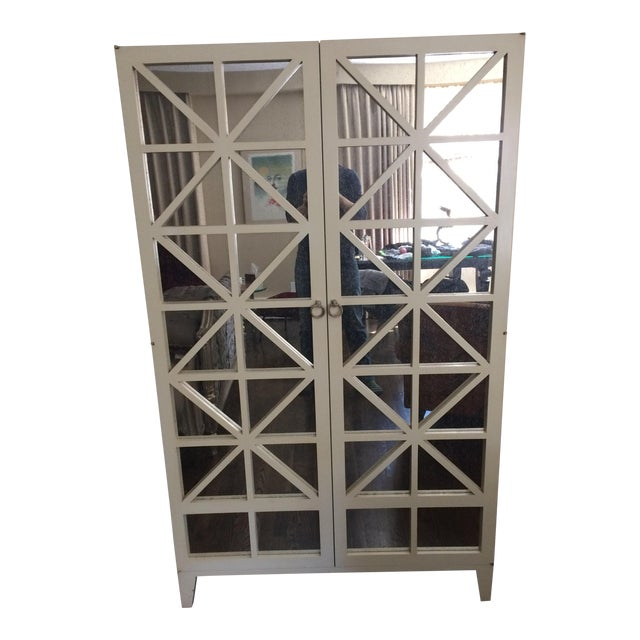Image of Hickory Chair Co. Mirrored Cleo Armoire