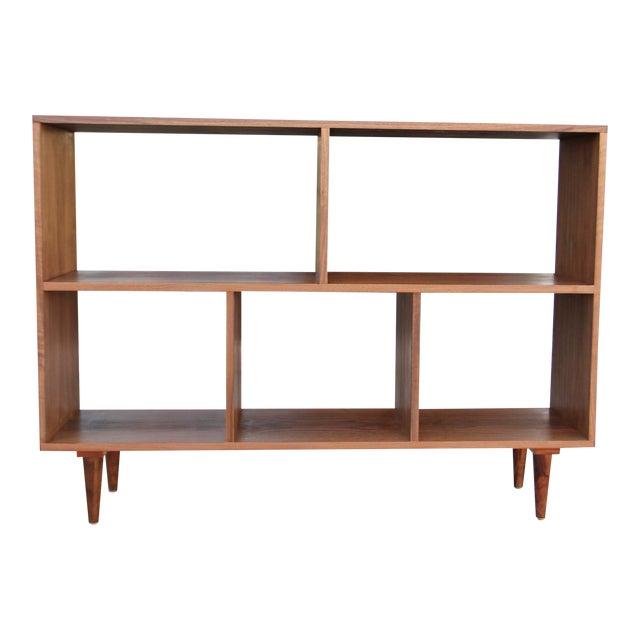Modern Walnut Bookcase Shelf - Image 1 of 10