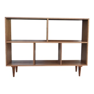 Modern Walnut Bookcase Shelf
