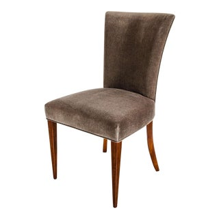 Fine Art Deco Occasional or Desk Chair in Mahogany and Tobacco Brown Mohair
