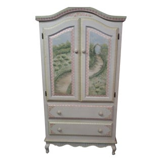 Crackle Finish Armoire