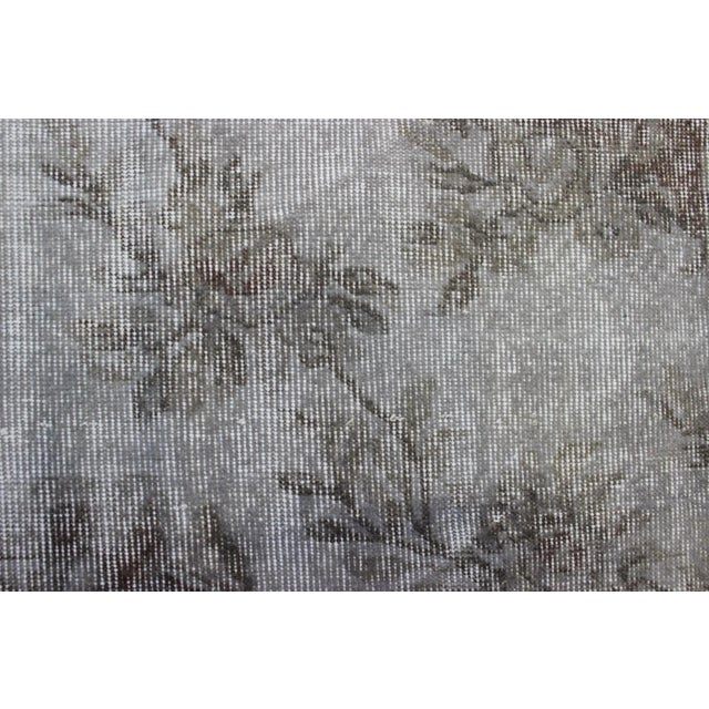 "Gray Turkish Overdyed Rug - 5'7"" X 9'5"" - Image 7 of 9"