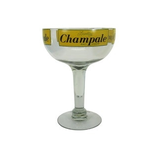 Oversized Champagne Glass Advertising Champale