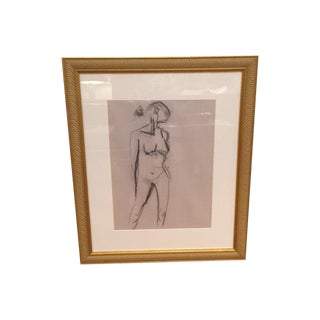 Original Large Nude Charcoal Sketch