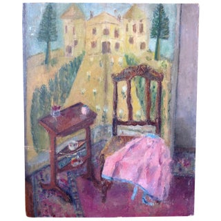 """""""Chair at the Chateau"""" Painting"""