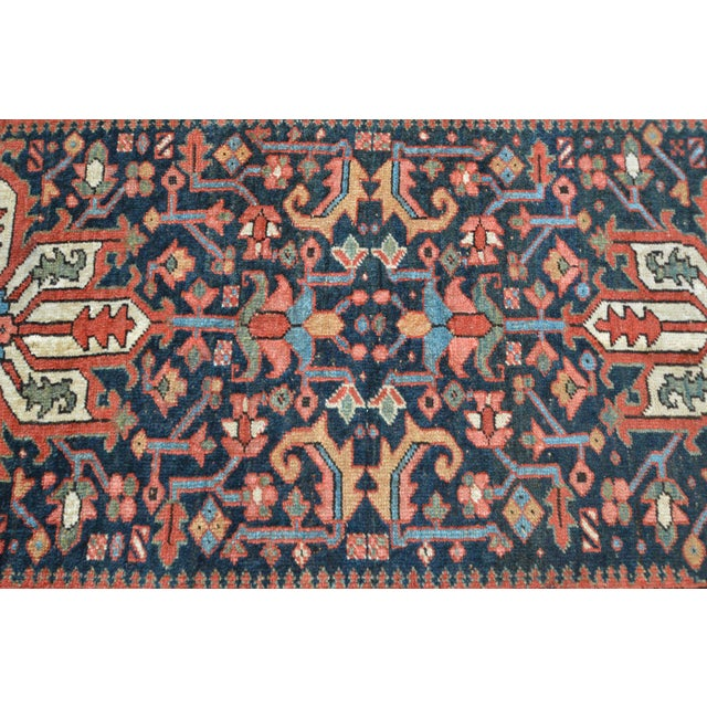Antique Persian Heriz Karajeh Runner- 3′6″ × 8′10″ - Image 8 of 11