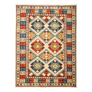 "Tribal Style Traditional Hand Knotted Area Rug - 5'1"" X 6'9"""