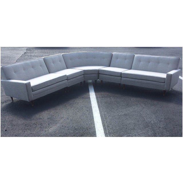 Vintage Mid-Century Sectional Sofa - Image 2 of 9