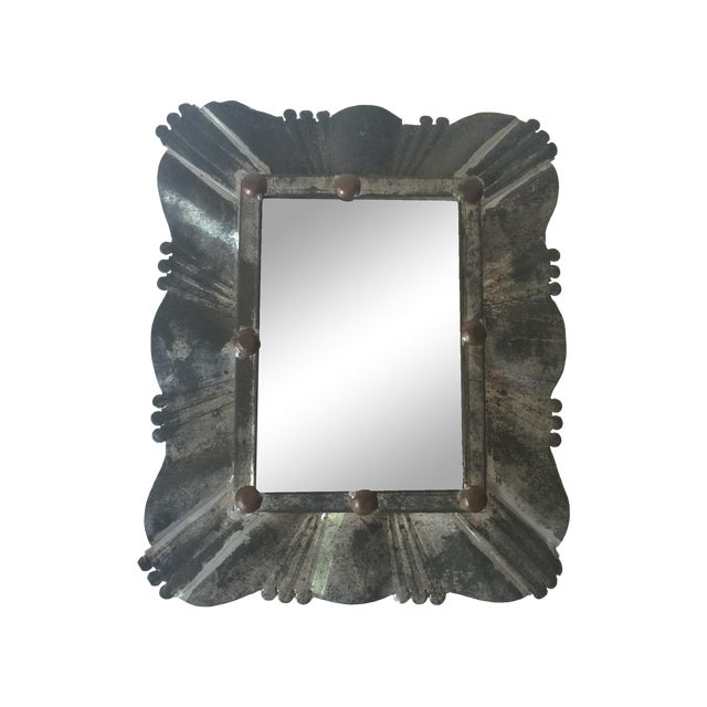 Image of Vintage Tin & Copper Mirror