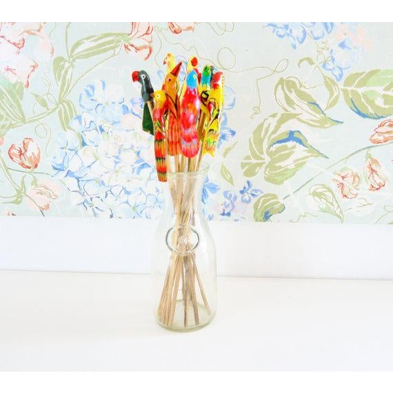 Birds of Paradise Cocktail Stirrers - Set of 12 - Image 3 of 6