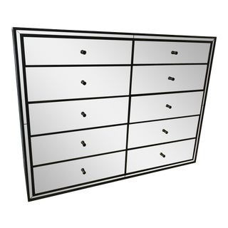 Restoration Hardware Strand 10-Drawer Mirrored Dresser