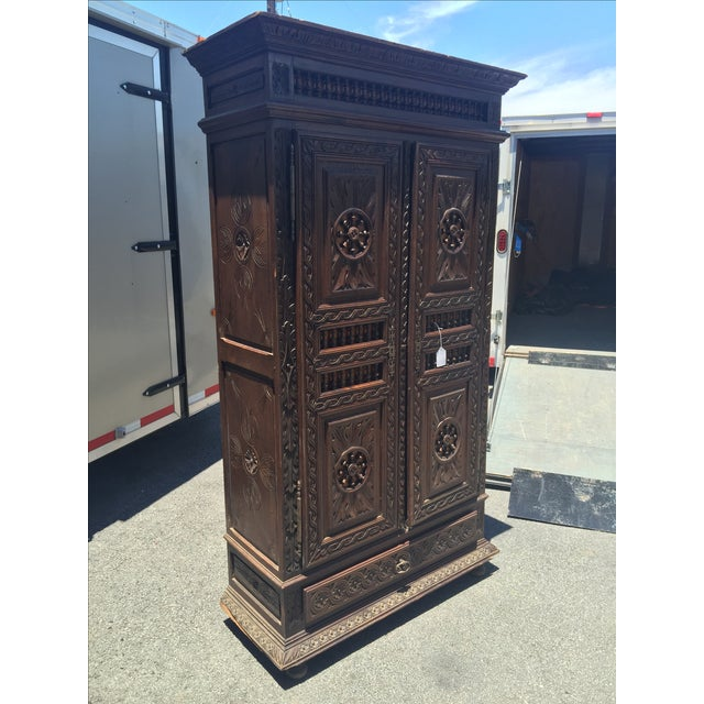 Late 1800s French Brittany Style Cabinet - Image 4 of 7