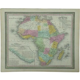 1850 Map of Africa by Cowperthwait