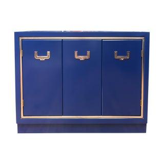 Cobalt Blue Campaign Bar Cabinet