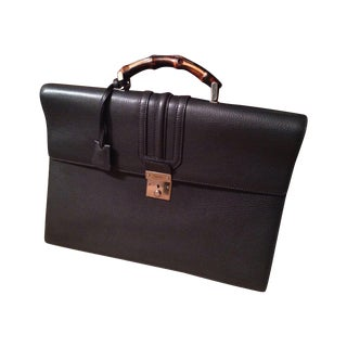 Gucci Briefcase With Bamboo Handle