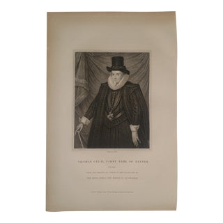 1825 Vintage 1st Earl of Exeter English Portrait Engraving