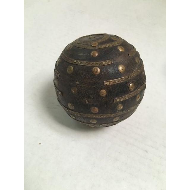 Antique Wood & Metal Bocce Balls - Set of 3 - Image 5 of 7